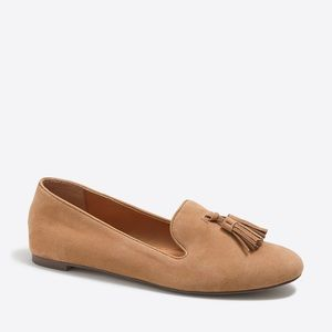 J.Crew Cora Suede Loafers with Tassel